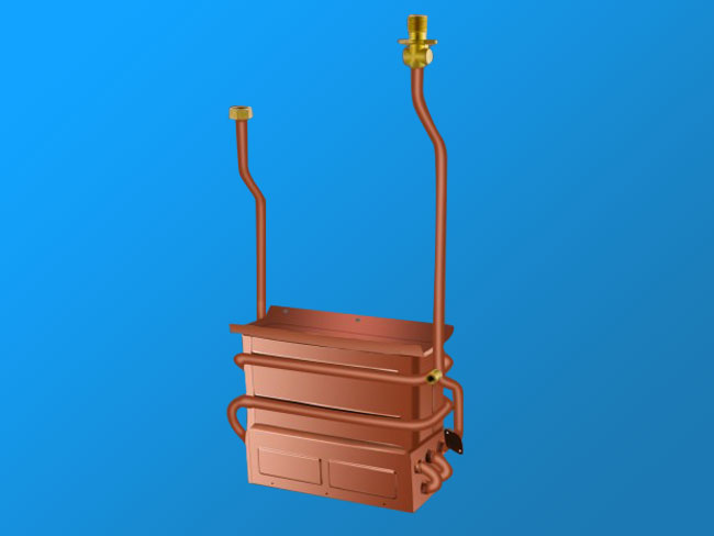WQG10L anaerobic copper heat exchanger
